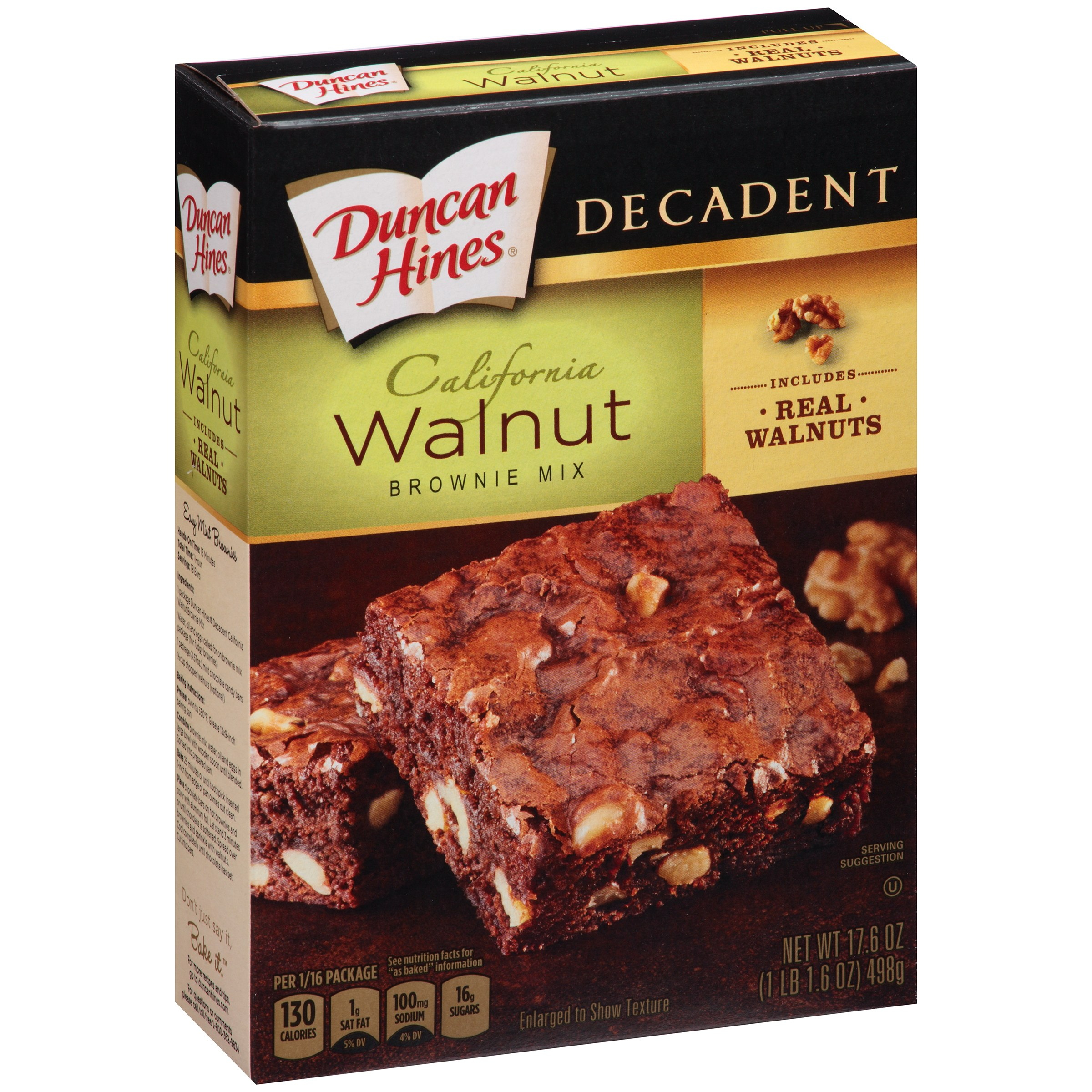 Duncan Hines Chocolate Lover's Walnut Brownies, 17.60 oz by Pinnacle Group LLC