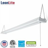 LEONLITE 4ft 40W Linkable LED Utility Shop Light for Garage, 4100lm, Double Integrated LED Ceiling Fixture, 4000K Cool White