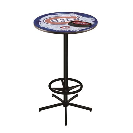 Montreal Canadiens 42 Inch High, 36 Inch Top Black L216 Pub Table Montreal Pub Table