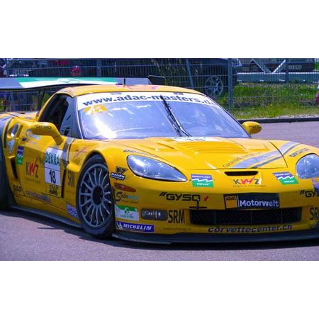 Motorsport Corvette Racing Racing Car Auto Poster Print 24 x 36 Lg Motorsports Corvette