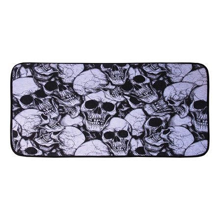 Unwelcoming Blood Skull Saying Door Mat Halloween Trick or Treat Prop Decoration - Halloween Decorating Ideas For Classroom Doors
