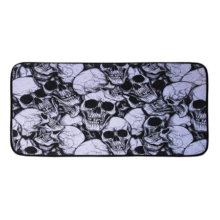 Unwelcoming Blood Skull Saying Door Mat Halloween Trick or Treat Prop Decoration