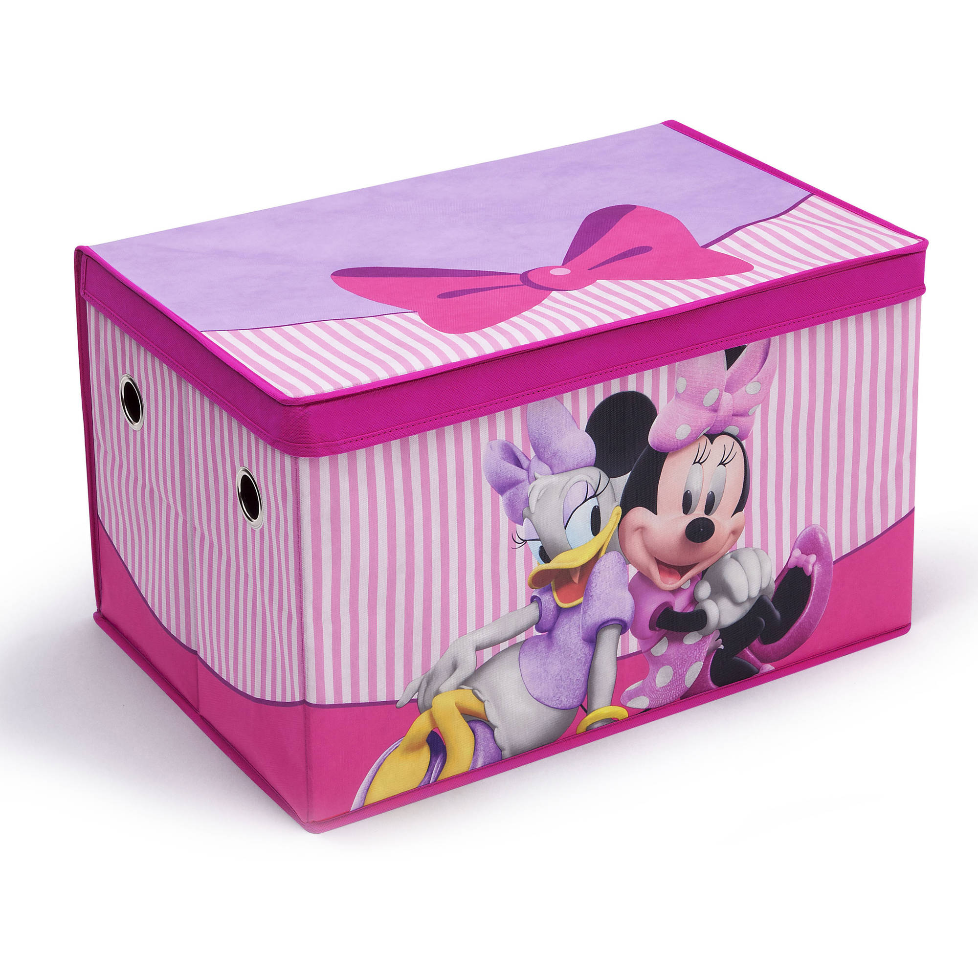 Disney Minnie Mouse Art Desk Withfabric Toy Box Playroom