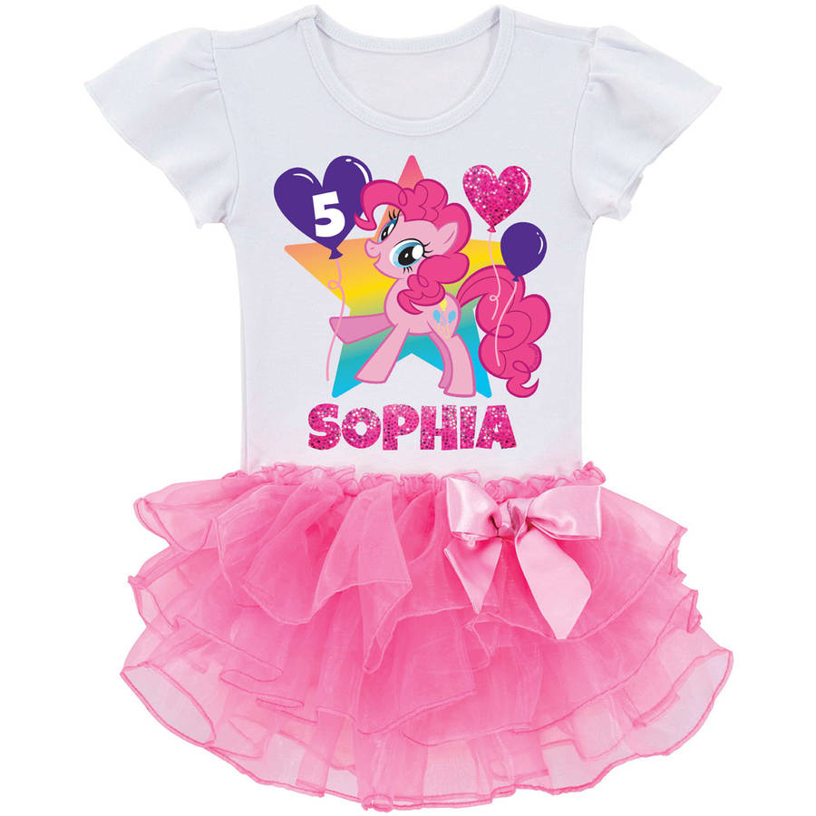 Personalized My Little Pony Pinkie Pie Birthday Toddler Girls' Tutu T-Shirt