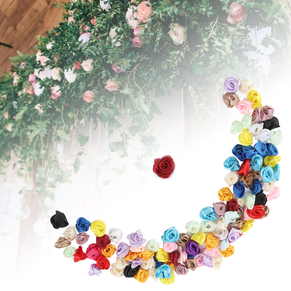 Details about  /100Pcs Artificial Flowers For Home Wedding Decor Accessories Decorative Flower