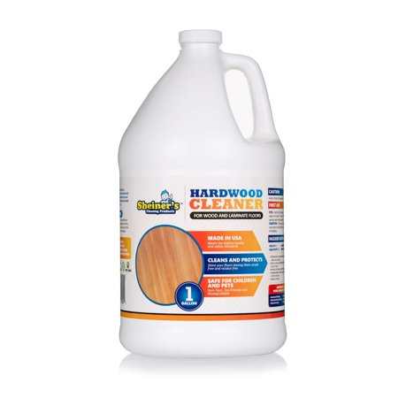 Laminated Hardwood Flooring Stapler (Sheiner's Hardwood Floor Cleaner, for Deep Cleaning of Wood, Laminate, Natural and Engineered Flooring, Ready-to-Use, pH Neutral and Non Toxic, Safe for All Surfaces, 1 Gallon 128 ounces)