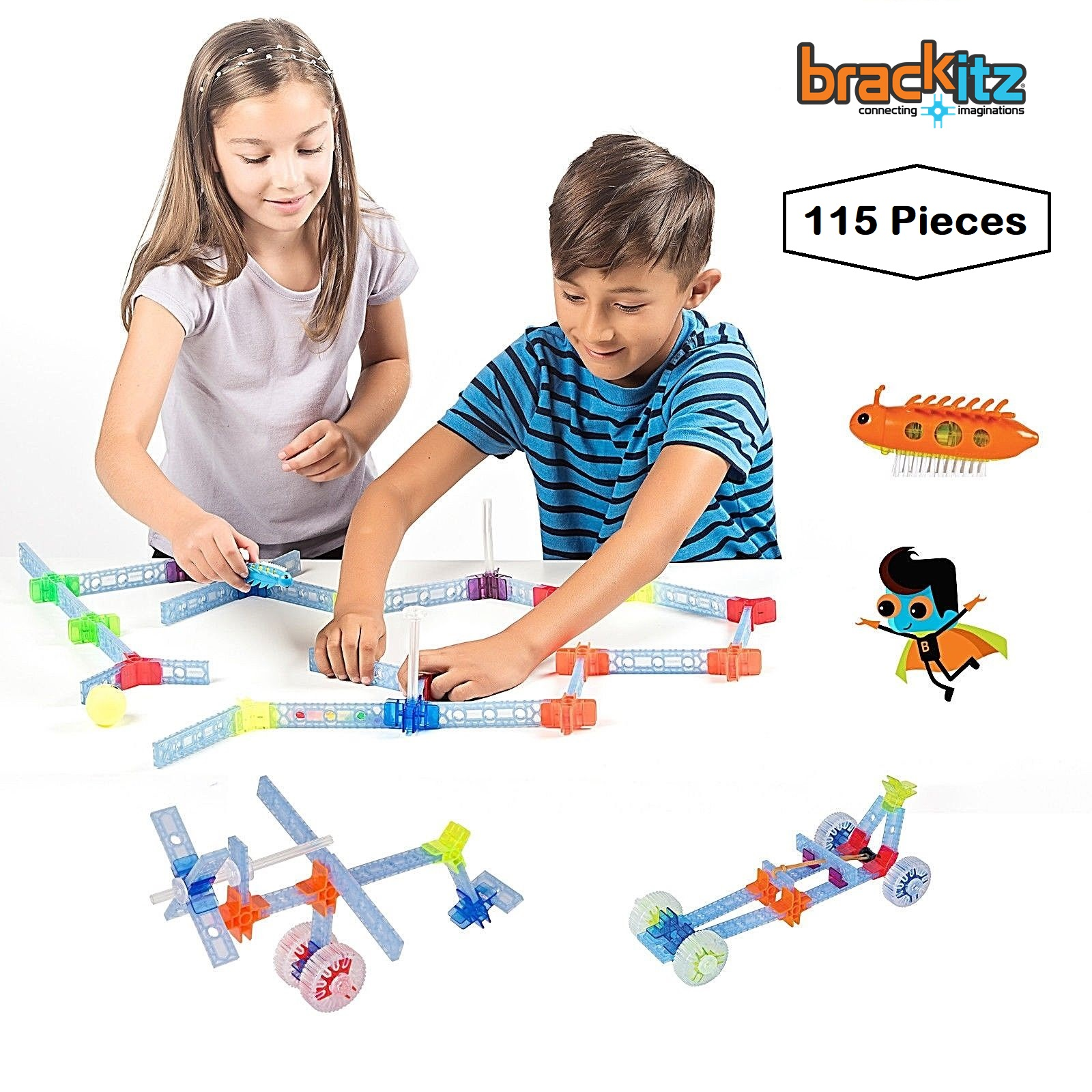Brackitz Explorer STEM Building Toy for Boys & Girls Ages 4+