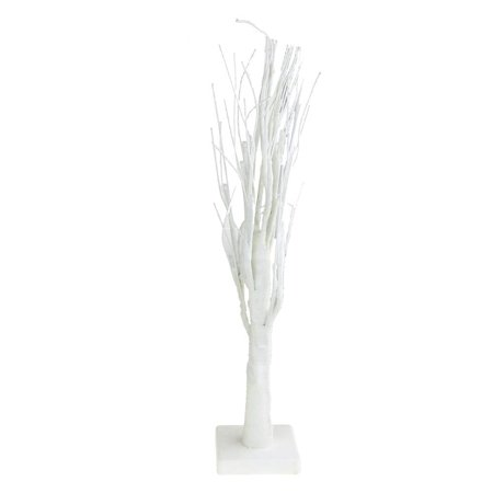 LED Glitter Branched Out Winter Tree Holiday Decor, White, 26-Inch (Firefly Winter)