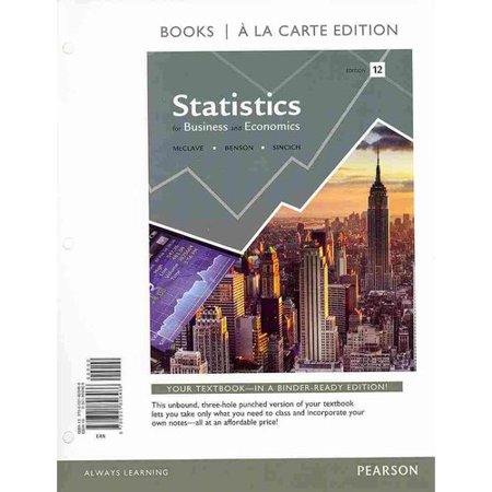 Statistics For Business And Economics   Mystatlab With Pearson Etext Access Card  Books A La Carte Edition