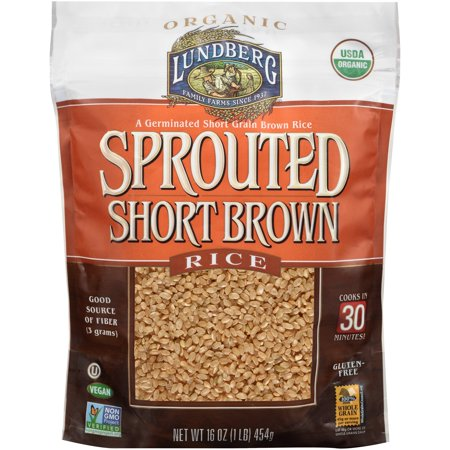 Lundberg Organic Sprouted Short Brown Rice, 16.0 OZ