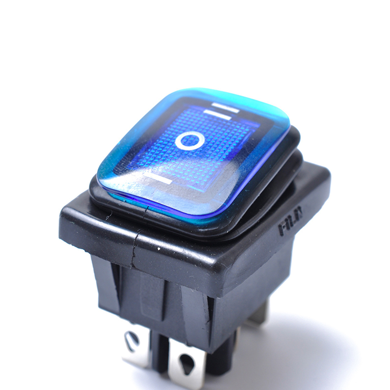 On-Off-On 6 Pin 12V Car Boat LED Light Rocker Toggle Switch Latching Waterproof Switch