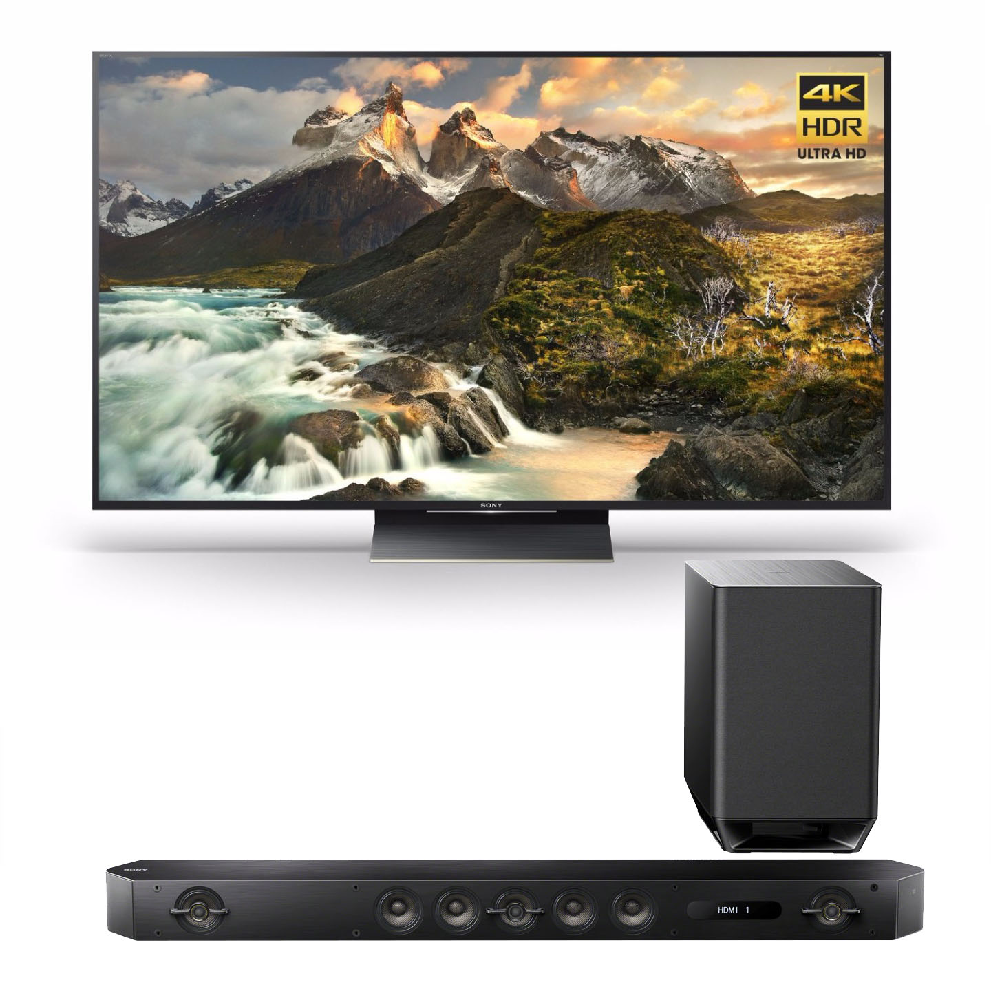 "Sony Z9D 75"" 4K HDR Ultra-High Definition Android TV w/ Sound Bar"