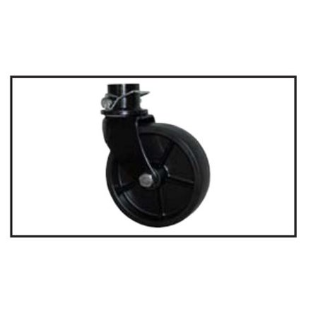BAL RV Products/ Adnik 29041B Trailer Tongue Jack Caster  Fits 2000 Pound Jack With 2 Inch Round Inner Tube; 6 Inch Wheel Diameter; Retail Box - image 1 de 1