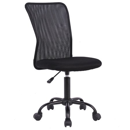 Ergonomic Office Chair Mesh Desk Chair Task Computer Chair Adjustable Stool Back Support Modern Executive Rolling Swivel Chair for Women&Men, Black Array Small Back Chair