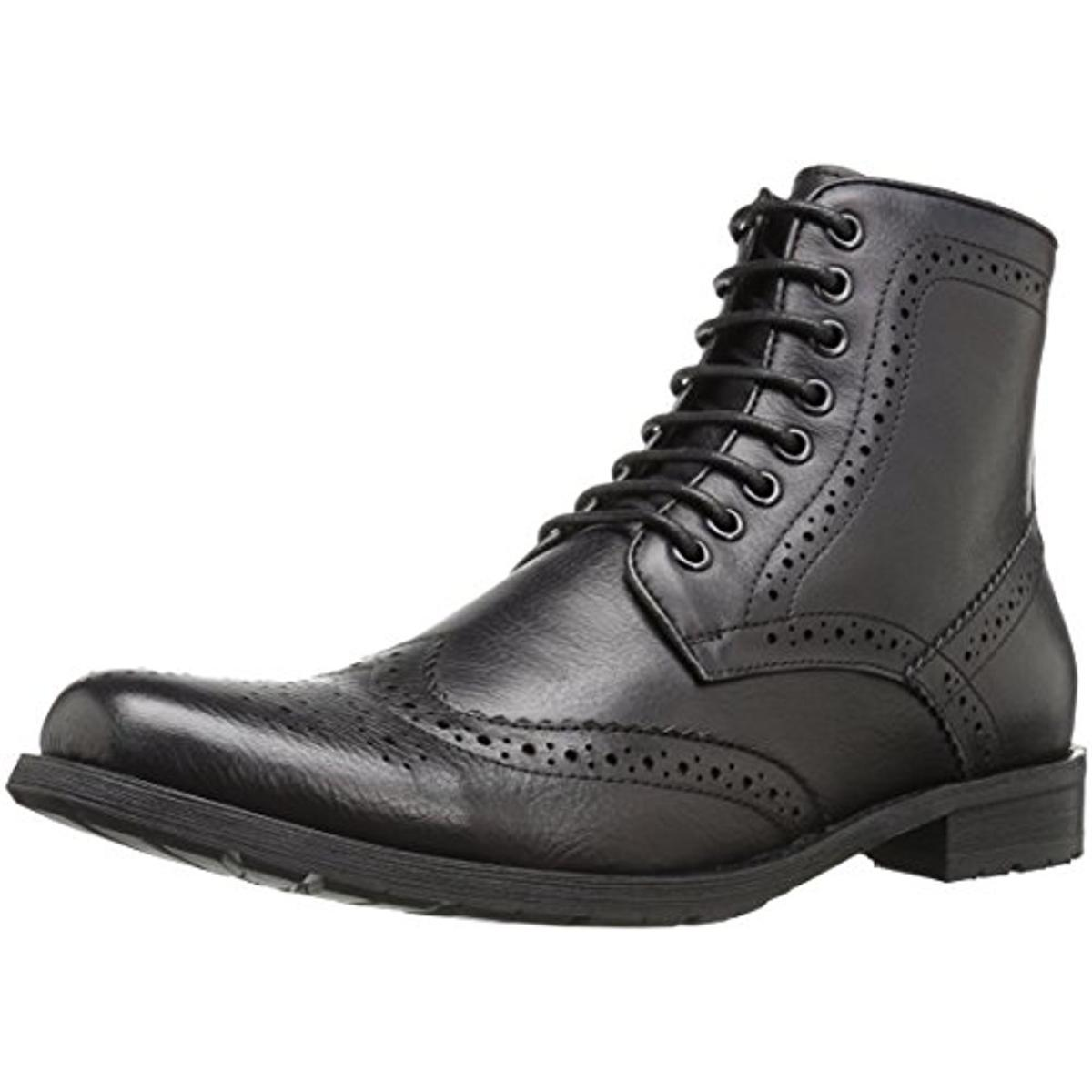 English Laundry Mens Barbican Leather Wingtip Oxford Boots