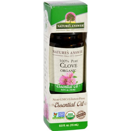 Natures Answer Essential Oil Organic Clove 5 Oz Pack Of 5