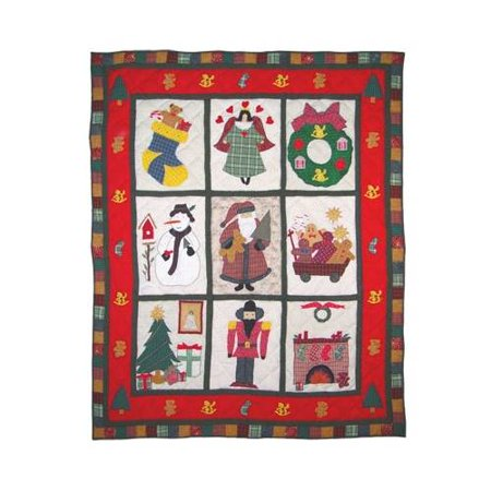 Patch Magic Thhoch Holiday Cheer  Throw 50 X 60 Inch