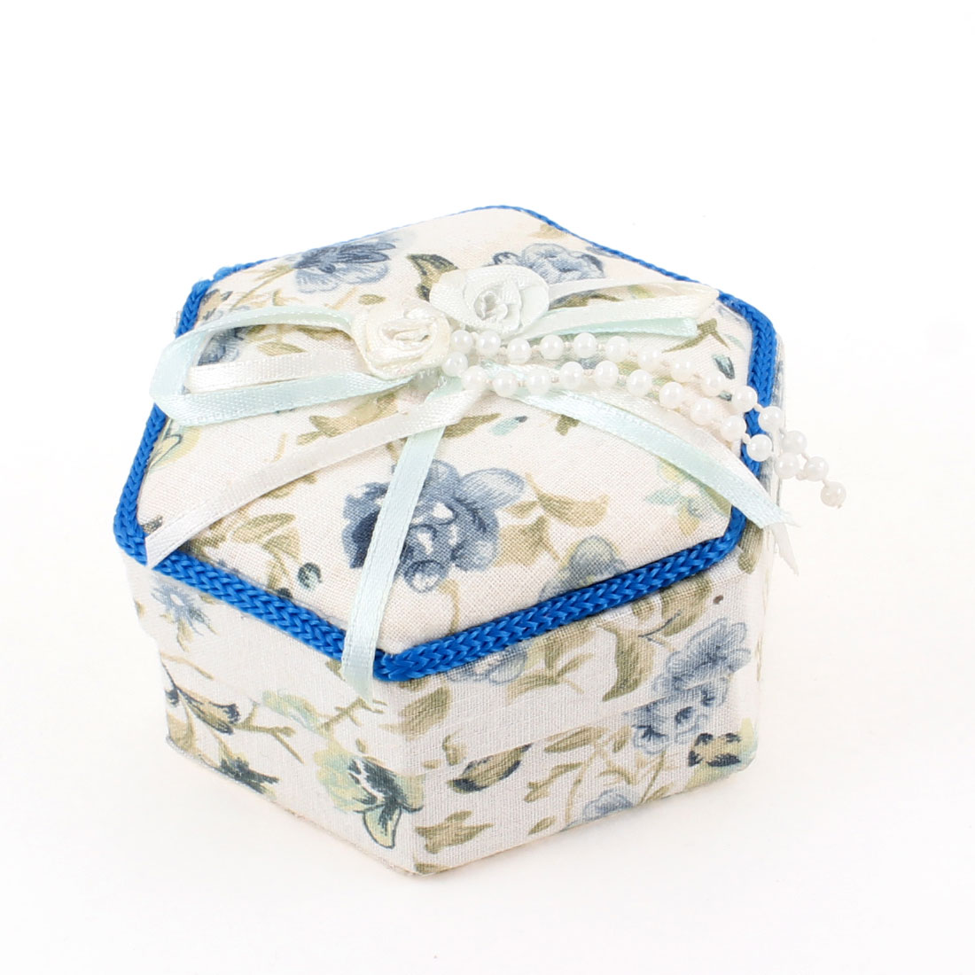 Unique Bargains Fabric Coated Cardboard Paper Hexagon Design Gift Box Colorful