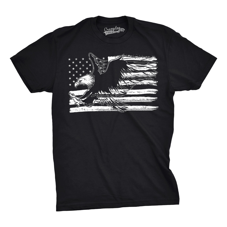 Mens Eagle Over Grunge Flag Funny T shirts Vintage Cool ...