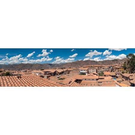 High angle view of houses in a town Cuzco Cusco Province Peru Poster Print by Panoramic -