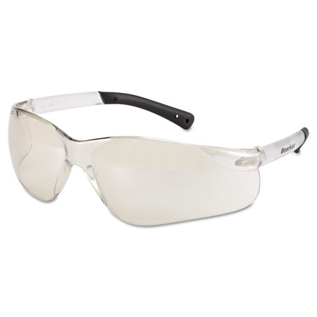 Mirror Ignitor Clear Lens - MCR Safety BearKat Safety Glasses, Frost Frame, Clear Mirror Lens
