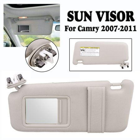 Solid Sun Visor Day and Night Anti-glare Car Shade Sun Visor Shield Extension Extend Driving Window Sunshine for 2007-2011 Toyota Camry Driver Side With Sunroof and Light Left (Sun Visor For Rav4 Driver Side)