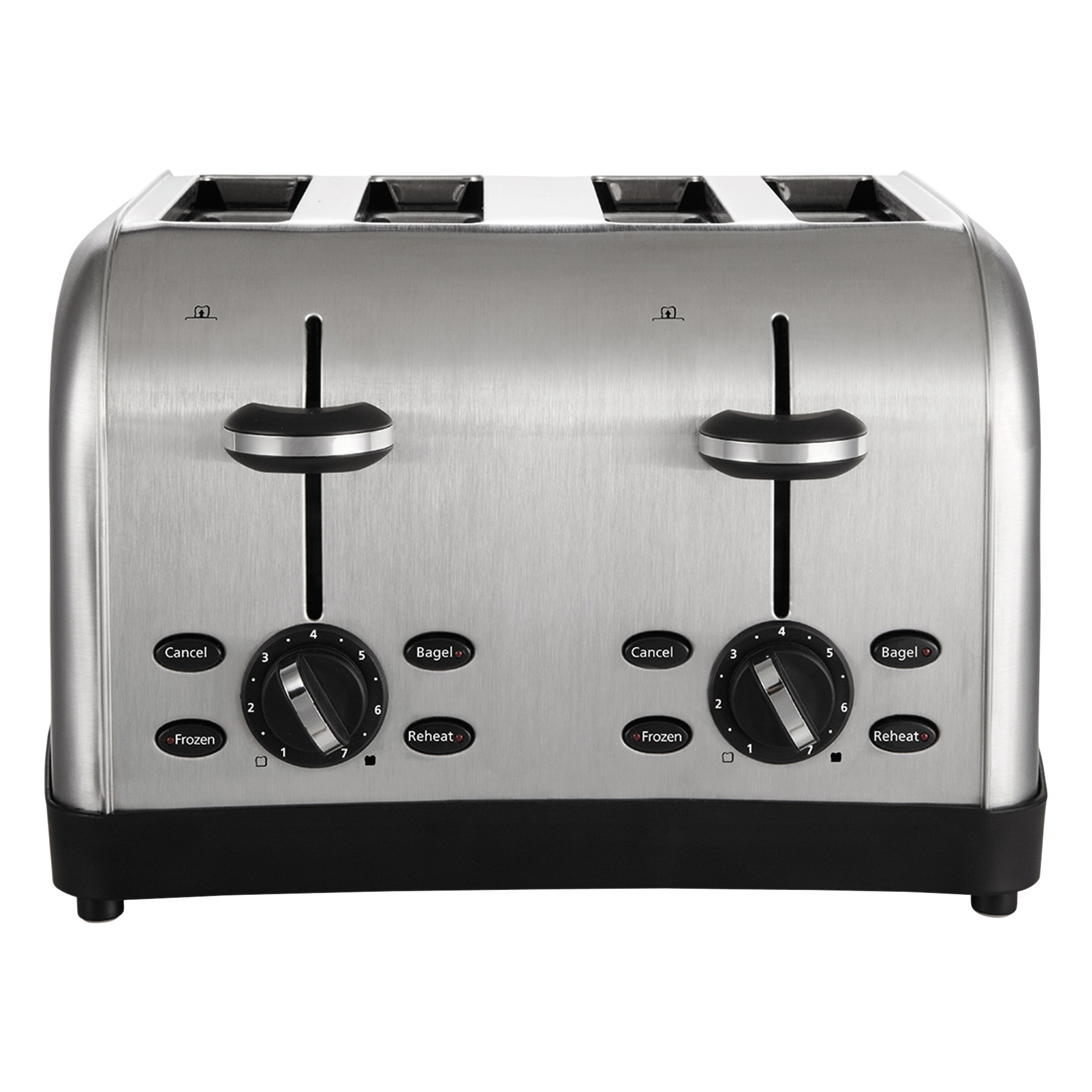 Oster Extra Wide Slot Toaster, 4-Slice, 12 3/4 x 13 x 8 1/2, Stainless Steel
