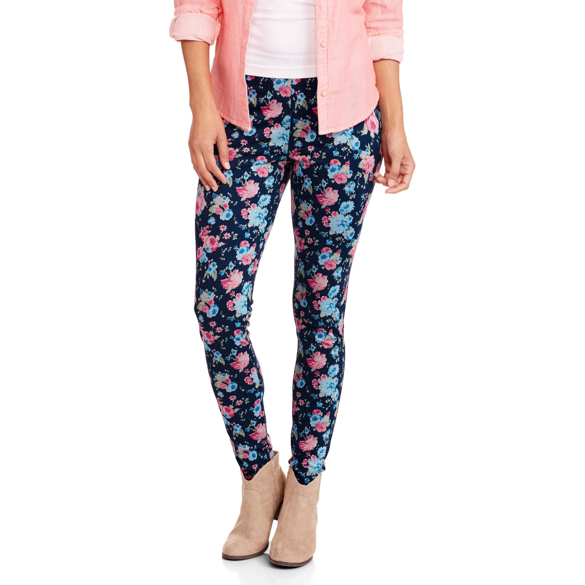 Faded Glory Women's Full Length Printed Knit Color Jegging