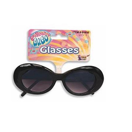 Black Mod Tinted Glasses Halloween Costume Accessory - Halloween Glass Scatters