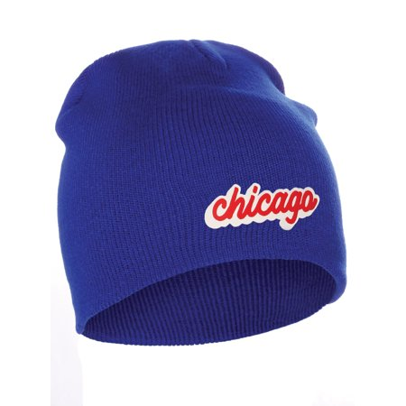 f4ae8cb5d I&W Classic USA Cities Winter Knit Cuffless Beanie Hat 3D Raised Layer  Letters