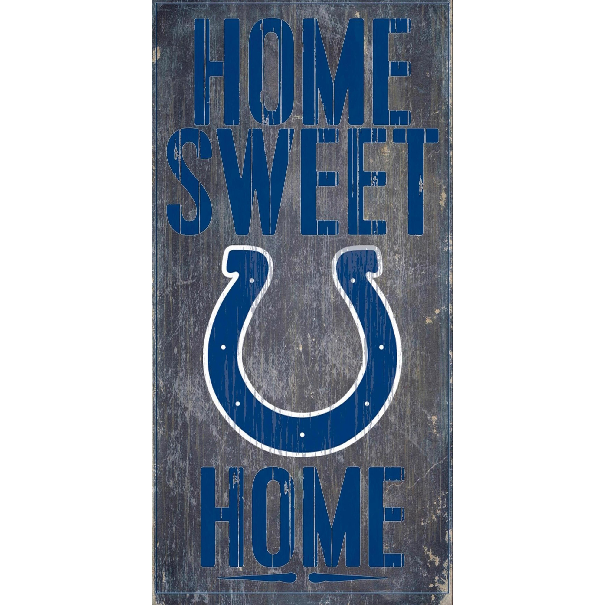 Indianapolis Colts 6'' x 12'' Home Sweet Home Sign - No Size