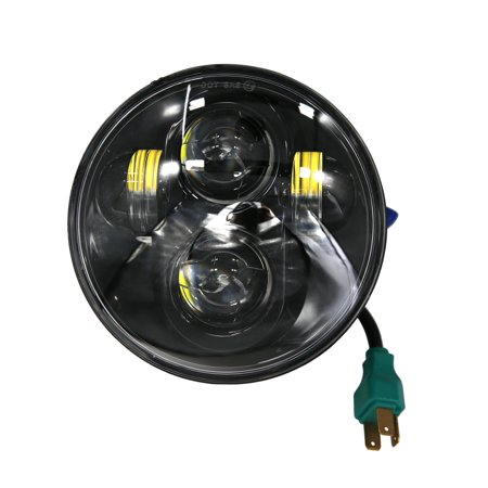 Harley 883 Sportster (Zimtown 5.75 Inch LED Daymaker Headlight for Harley Sportster XL 1200 883 H4)