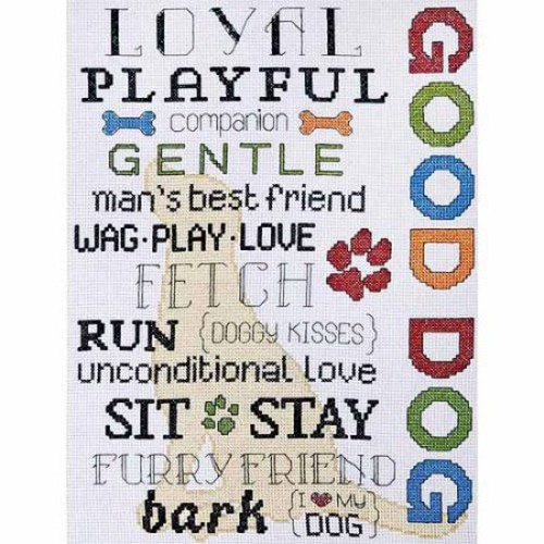 Design Works Counted Cross-Stitch Kit, Good Dog