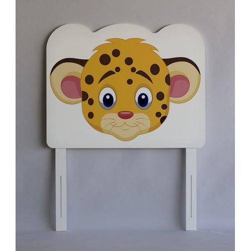 Zoomie Kids Rosetta Leopard Face Twin Panel Headboard