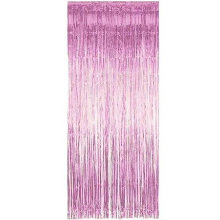 Shimmering Fringe Tinsel Door Curtains Metallic Foil Photo Backdrop Wedding Birthday Pub Stage Party Decoration Valance](Tinsel Backdrop)