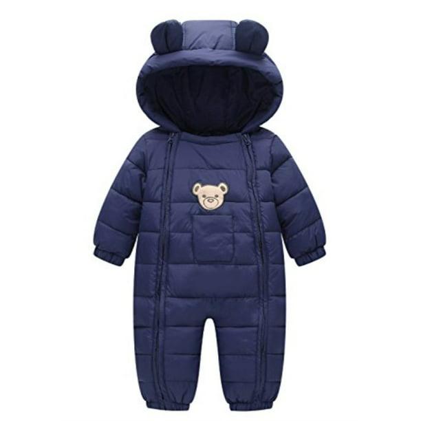 Happy Cherry Newborn Snowsuit Romper Unisex Baby Winter Clothes 0-24 Months