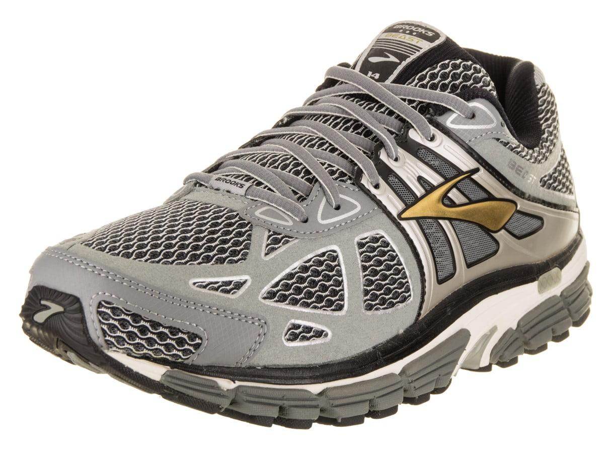 Wide Silver/Black/Gold Running Shoe
