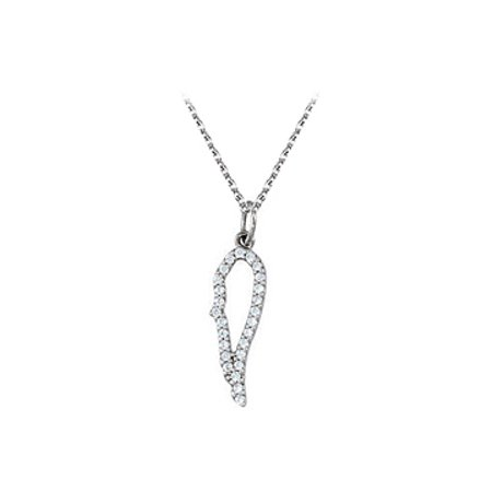 Lovebrightjewelry Nicely Designed Cubic Zirconia Angel Wing Pendant In 925 Sterling Silver Best Price Range