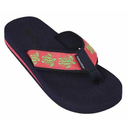 Tidewater Womens Turtles Thong Sandal  Pink Size 11