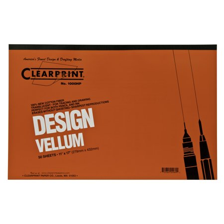 Clearprint Design and Sketch Pad, Unprinted, 11