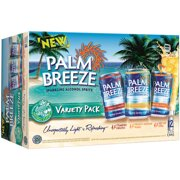 Palm Breeze Sparkling Alcohol Spritz Variety Pack, 12 pack, 12 fl oz