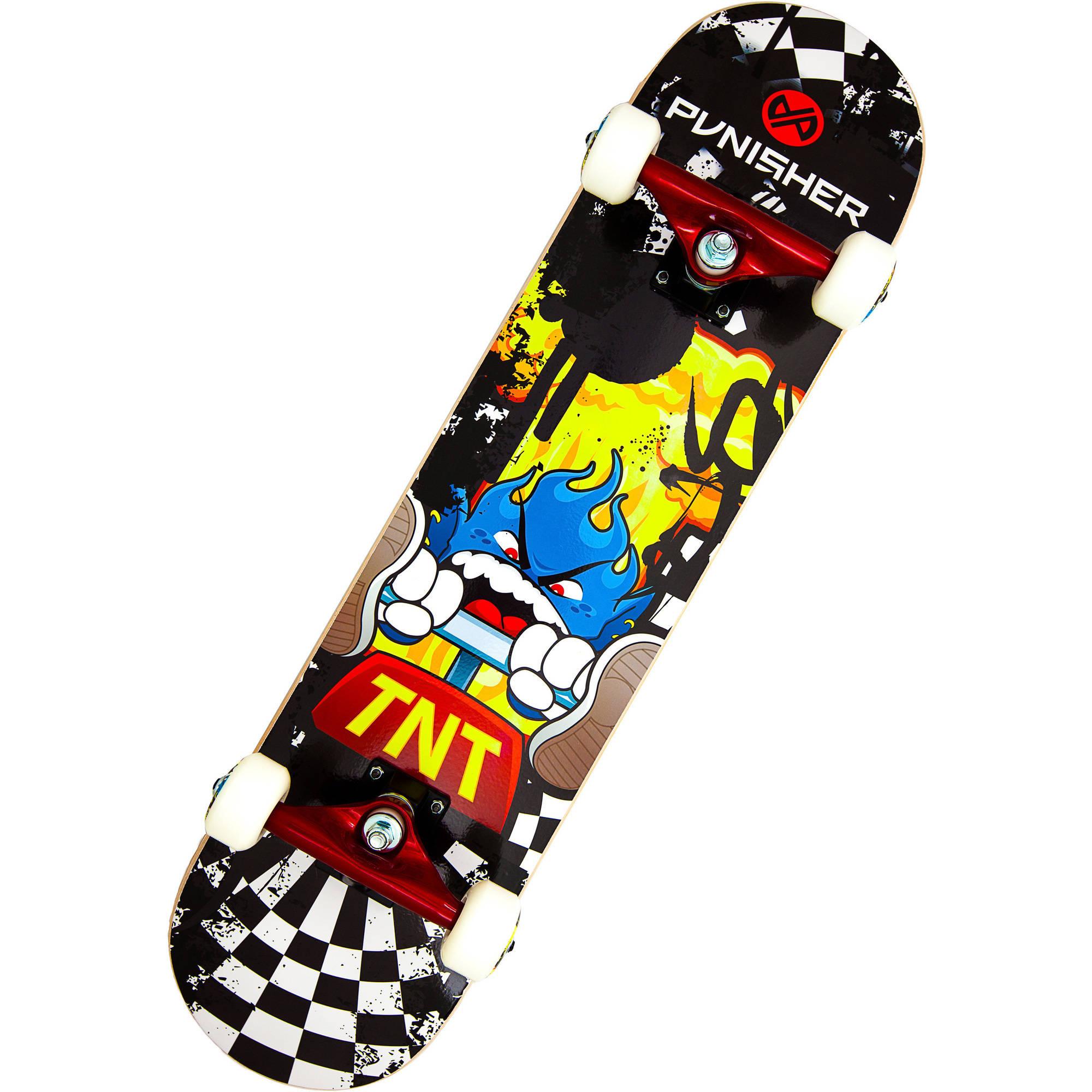 """Punisher Skateboards TNT 31.5"""" ABEC-7 Complete Skateboard"""