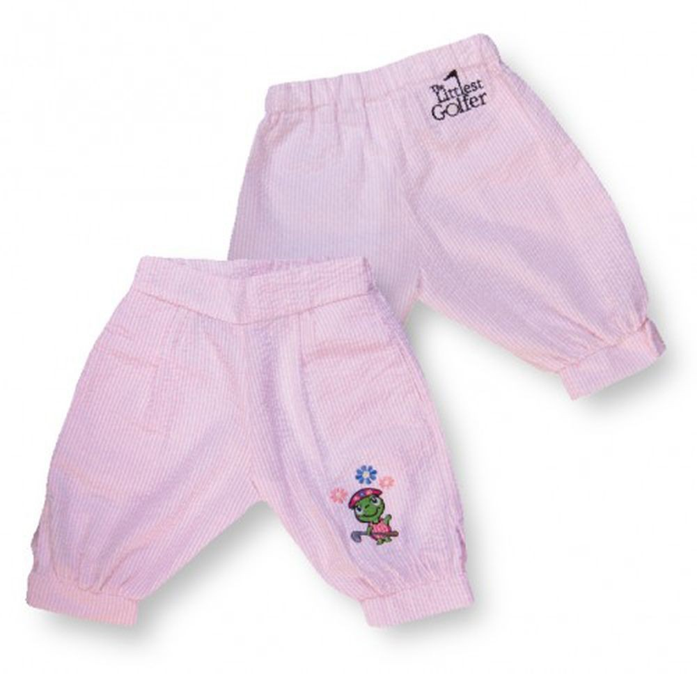 Littlest Golfer Pink Knickers Pants Baby Toddler Little Girls 6M-12 by The Littlest Golfer
