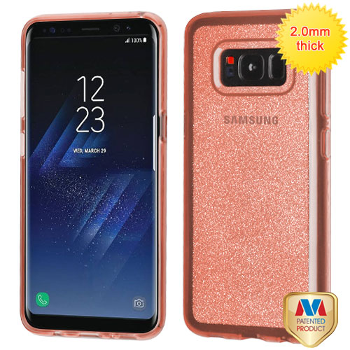 For Samsung Galaxy S8 Sheer Glitter Premium Bling Stylish Candy Skin Case Cover