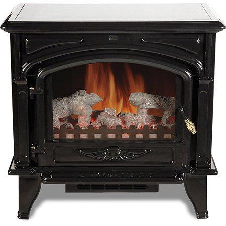 Georgetown Electric Fireplace Stove, Black / Granite ...  Electric Stove Top Granite