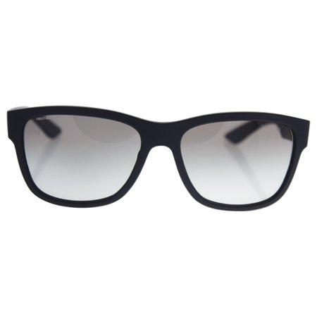 Prada SPS 03Q DG0-0A7 - Black Rubber/Grey Gradient by Prada for Men - 57-17-145 mm Sunglasses
