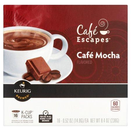Keurig K-Cups, Cafe Escape Mocha Coffee, 16ct