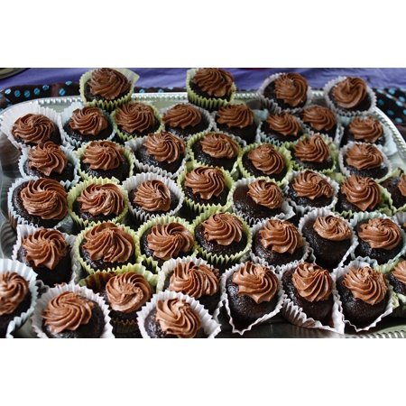 LAMINATED POSTER Cupcakes Chocolate Baked Frosting Mini Snack Poster Print 24 x - Halloween Cupcakes Chocolate Frosting