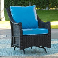 Belham Living Lindau All Weather Wicker Patio Glider Chair with Cushion - Dark Brown