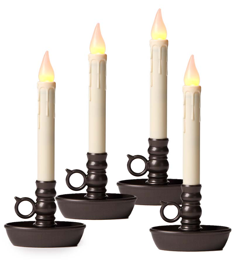 Battery-Operated LED Window Candles, 4-Pack
